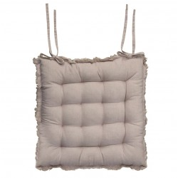 Amiens Box cushion (S19) with fringe