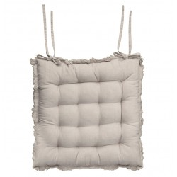 Amiens Box cushion with fringe
