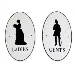 Ladies & Gents sign