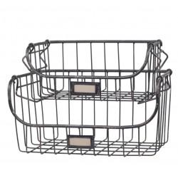 Old Basket stackable set of 2