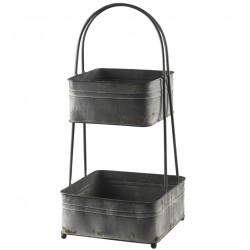 Metalowe Pojemniki Chic Antique Piętrowe A