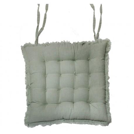 Amiens Box cushion with fringe