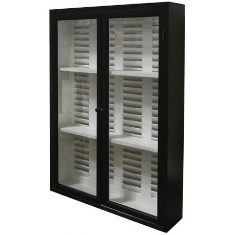 Cupboard f. wall w. jalousie & 2 doors