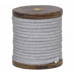 Cotton band on wooden spool antique grey