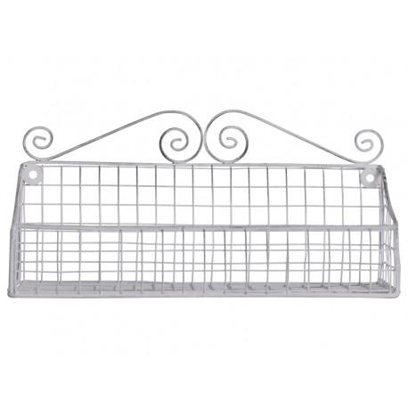 Shelf antique white H19/W15/L43 cm