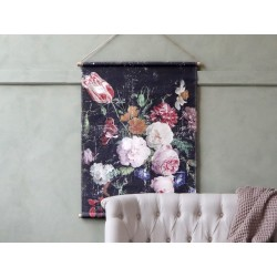 Canvas f. hanging w. French floral print