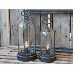 French globe Lantern incl. bulb & timer