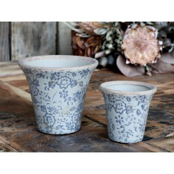 Melun Flower pot w. french pattern