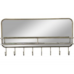 Mirror w. shelf & 8 hooks