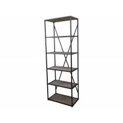 French Bookcase w. 5 wooden shelves