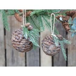 Fleur Pine cone (X20) w. glitter