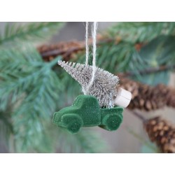 Car(X20)w Christmastree f hanging velour