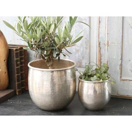 Flowerpot brass H14/D16 cm