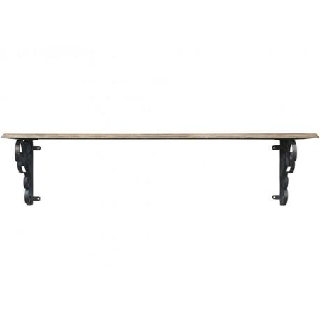 Wooden shelf w. shelfbrackets
