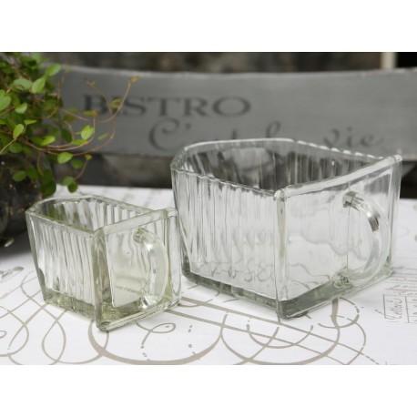 French glass drawer H8,5/W14/L17 cm