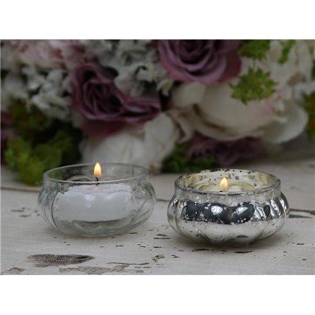 Tealight holder silver D6 cm