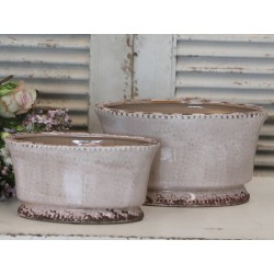 Flowerpot antique powder H12/W12/L23 cm