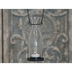 Bottle lantern w.heart