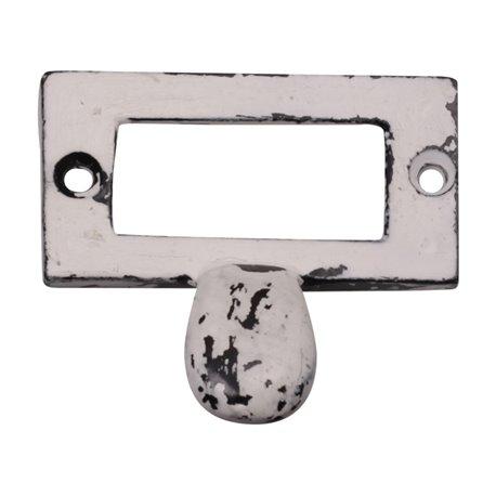 Knob iron antique white 5,5x6 cm