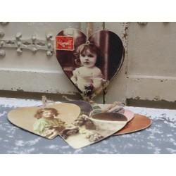 Kartki Chic Antique Serca 12szt.