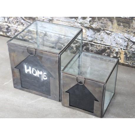 Szklany Pojemnik z Tablicą Vintage Chic 1