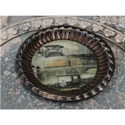 Tray w.print Antique D14 cm