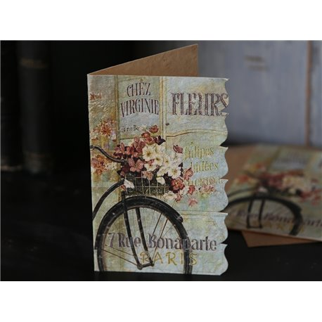Card Fleurs w.envelope 14x9 cm