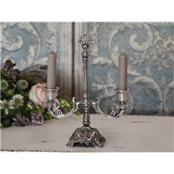 Candlestick w.2 arms antique silver
