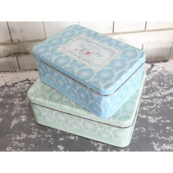 "Boxes set of 2 ""Flowers"" decoupage"