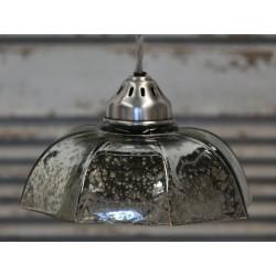Szklana Lampa Chic Antique Srebrna