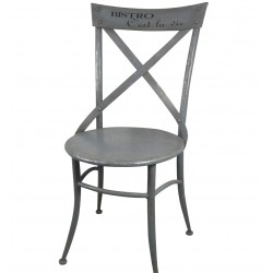 Cafe chair Bistro French grey H88 cm
