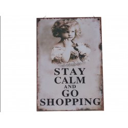 "Sign ""Stay calm"" 20x30 cm"
