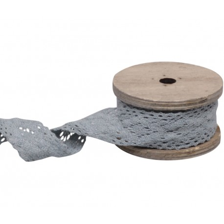Lace string antique grey