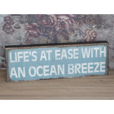 "Sign in wood ""Ocean"" 60x20 cm"