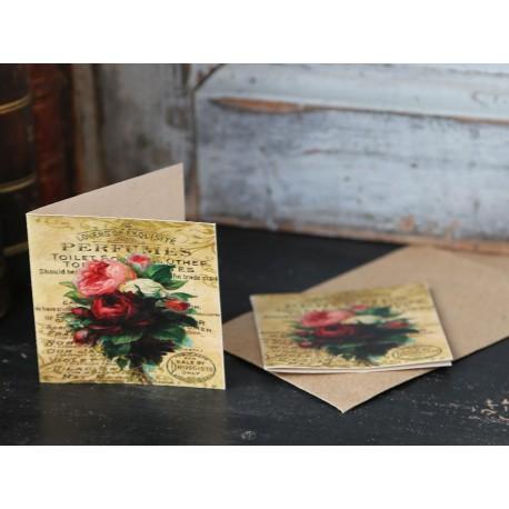 Kartka Chic Antique Kwiaty Mała