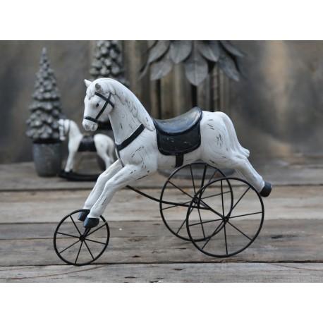 Drewniany Koń Chic Antique Na Kółkach