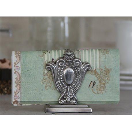 Napkin holder antique silver