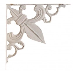Shelf bracket fleur-de-lis antique white