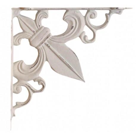 Shelf bracket fleur-de-lis antique white