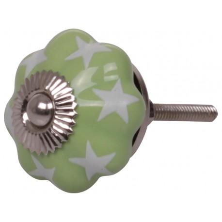 Gałki meblowe w.stars green D4 cm