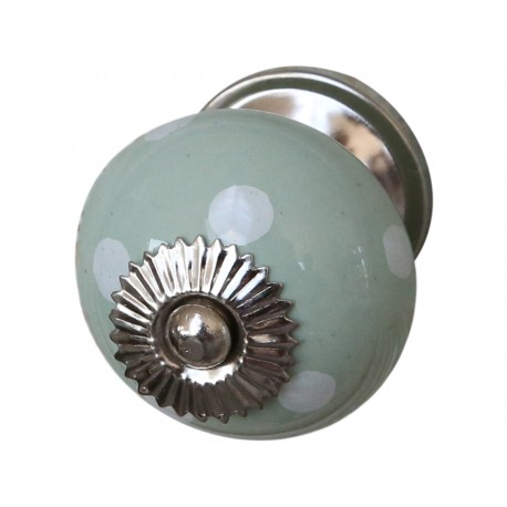 Gałki meblowe pastel green w.dots D3,5 cm