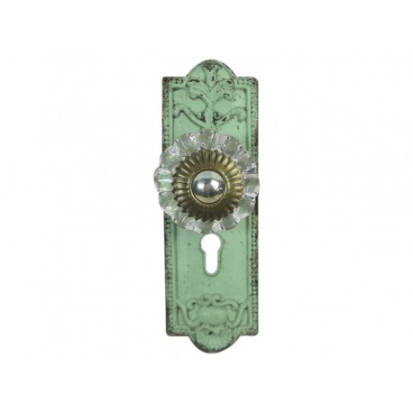 Gałki meblowe w.glass knob antique green L9,5 cm