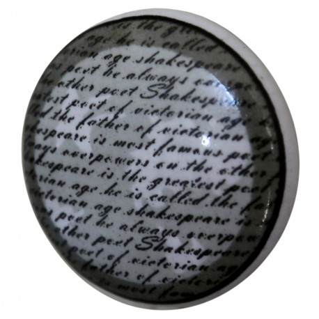 Gałki Do Mebli Chic Antique z Napisami