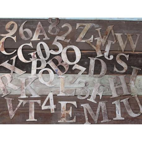 Metalowe Cyfry i Litery 36szt.