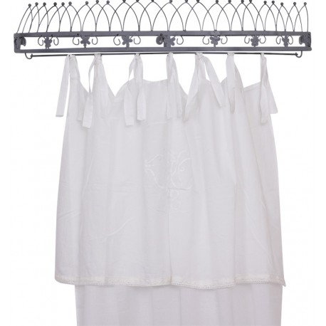 Curtain w.monogram white