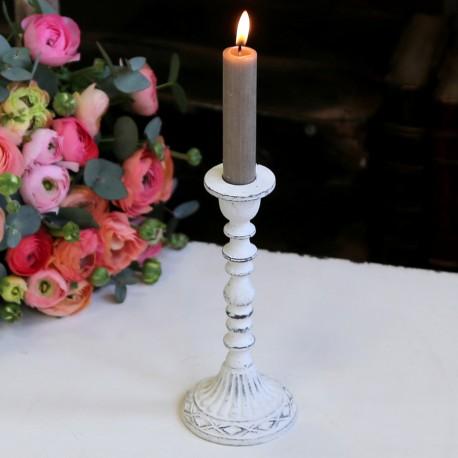 Biały Świecznik Chic Antique 2
