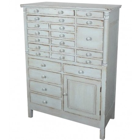 Chest of drawers w.drawers antique opal