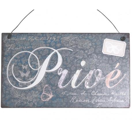 Obrazek Metalowy Prive