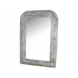 Mirror w.antique silver edge 65x45cm