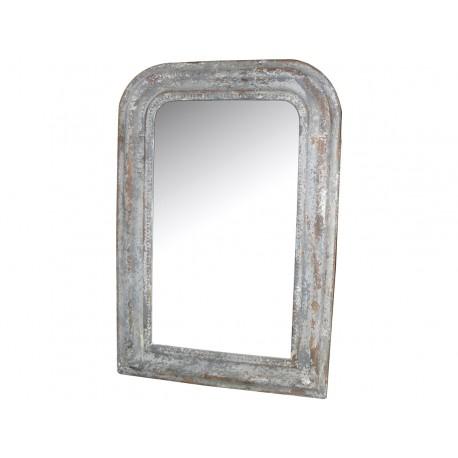 Mirror w.antique silver edge 65x45cm